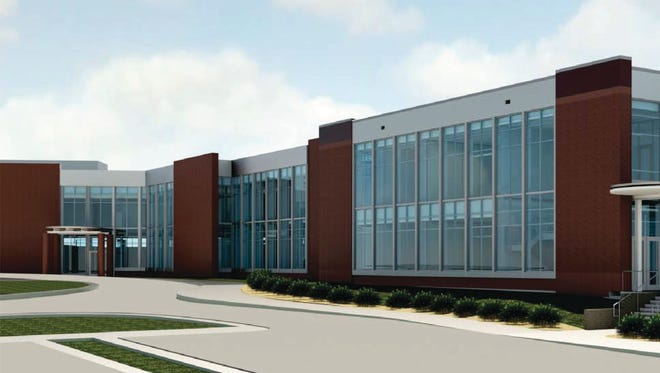 This rendering shows the two-floor expansion planned at Anderson Trucking Service Inc. corporate headquarters.