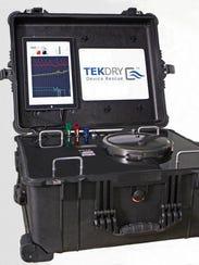 TekDry's machine for restoring wet smartphones, laptops