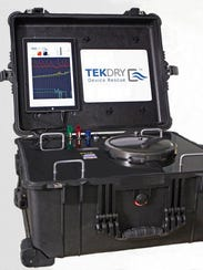TekDry's machine for restoring wet smartphones, laptops