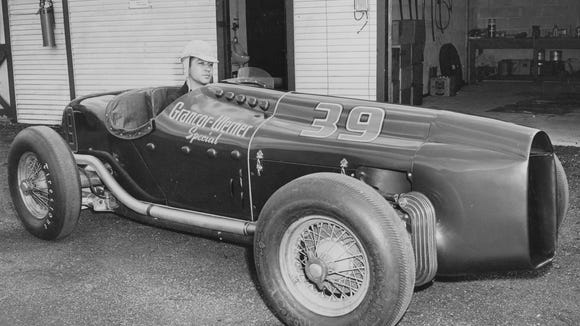 Could a race car like this one, driven by Andy Granatelli in 1948, be used in the vintage evident at Indianapolis Motor Speedway in 1948?
