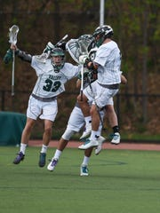 Pascack Valley celebrates a win during the Pascack