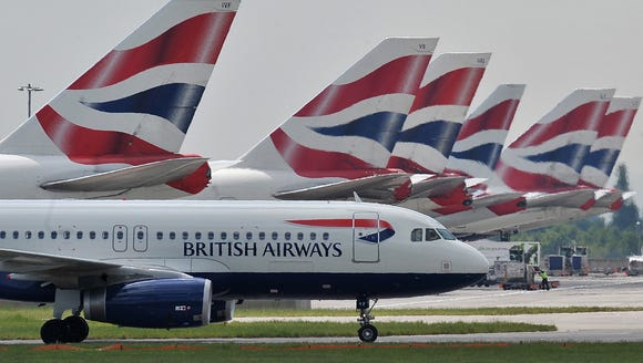 British Airways aircraft at London's Heathrow Airport