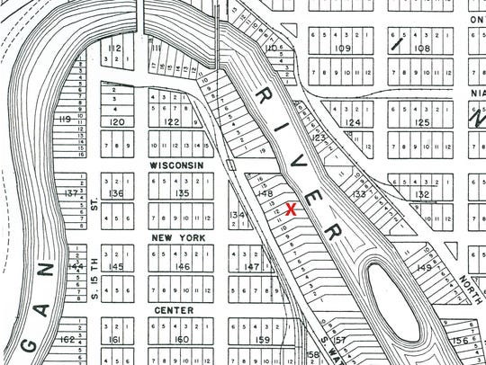 Plat map showing the location of the Green House.