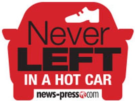 NeverLeft in a Hot Car logo. #NeverLeft