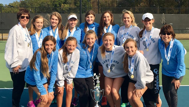 The Christ Church girls tennis team defeated Academic Magnet, 7-0, to earn the Class AA state championship