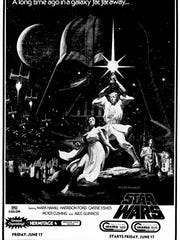 The movie ad for Star Wars was placed in The Tennessean June 12, 1977 issue for the movie opening in Nashville for June 17th.