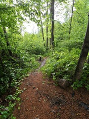 One of a starting points of Ice Age National Scenic Trail near the intersection of Highland Drive and Village Road in Birnamwood.