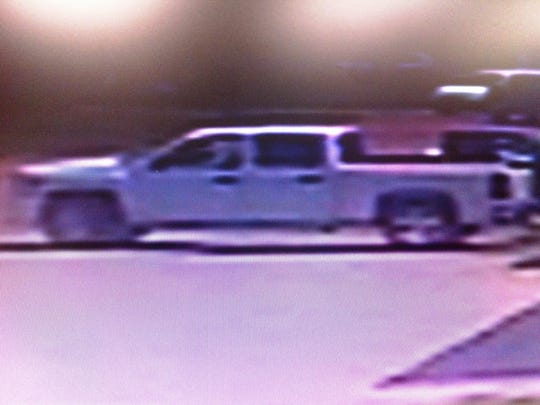 The vehicle used in the abduction of Jalon Bradley on Tuesday.