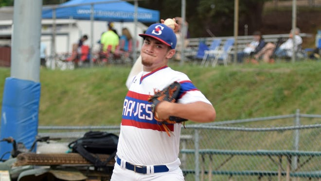 Staunton Braves pitcher Daniel Rivero works in the bullpen prior to the team's Valley Baseball League game against the Charlottesville TomSox at John Moxie Memorial Stadium in Staunton, Va., on Tuesday, July 11, 2017.