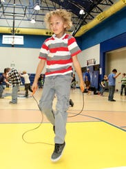 First graders at Ocotillo Elementary jumped rope for