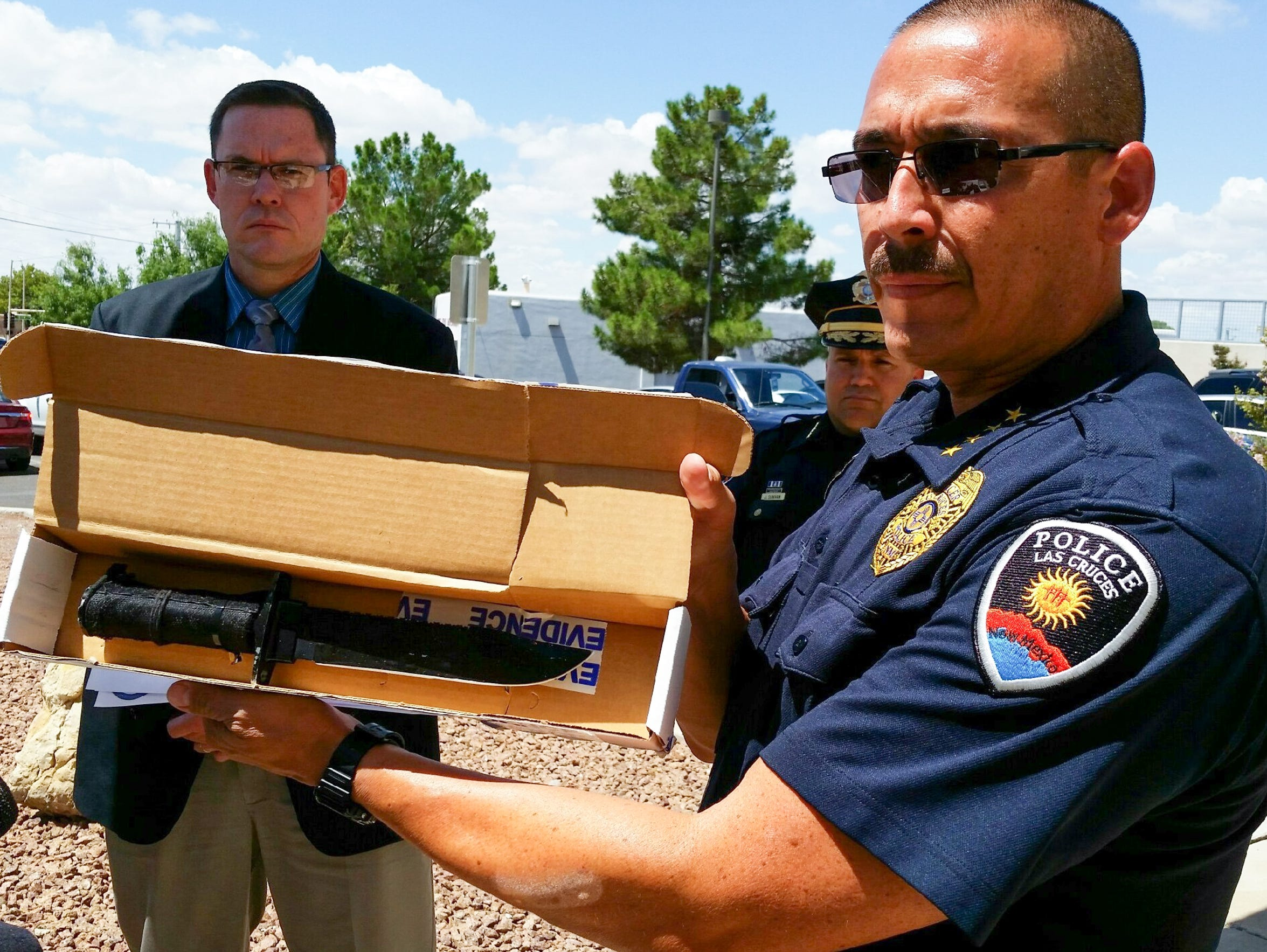 During a news conference, Las Cruces Police Chief Jaime