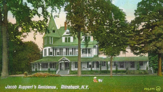 In 1883, Jacob Ruppert Sr. acquired Linwood, tore down the Tillotson house and erected this 22-room wood Queen Anne mansion. The estate is now the Linwood Spiritual Center in Rhinebeck.