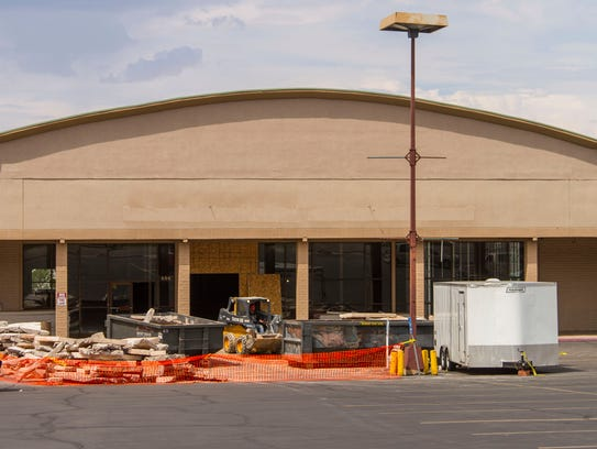 The future location for Harbor Freight undergoes construction