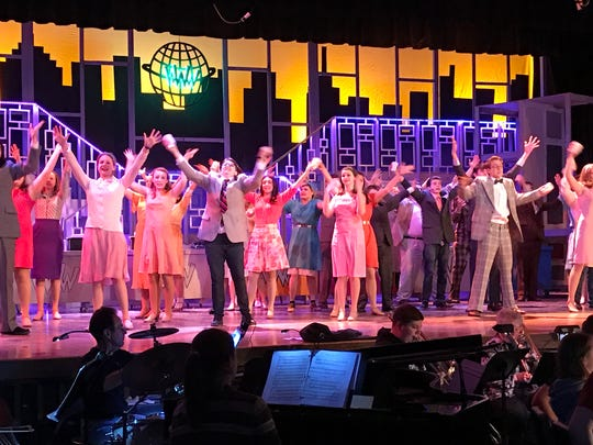 """West Milford High School students rehearse """"How to Succeed in Business without Really Trying"""" on March 4. The school musical starts March 9."""