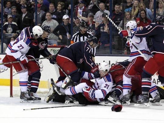 Rangers Blue Jackets brawl March 2014