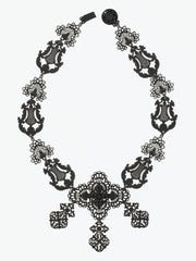 Necklace from Suite of Jewelry of 'Berlin Iron,' early 19th century. Germany. Cast iron with black lacquer.