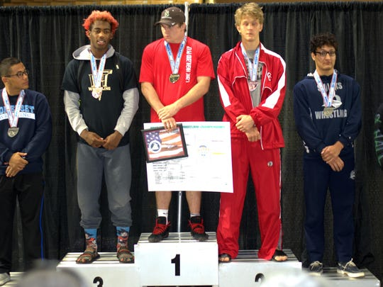 Florida High senior wrestler Will Haigler captured third place at 1A 182 pounds on Saturday.