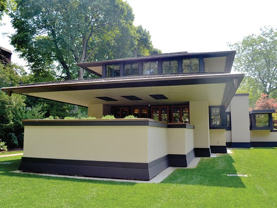 The Boynton House, designed by Frank Lloyd Wright, at 16 East Blvd. in Rochester.