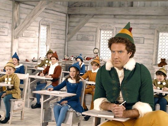 "Will Ferrell stars as an overgrown elf in ""Elf,"" which will air on Freeform's 25 Days of Christmas at 6:40 p.m Dec. 4."