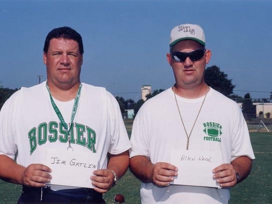 Jim Gatlin and Allen Wood when the two men were coaching
