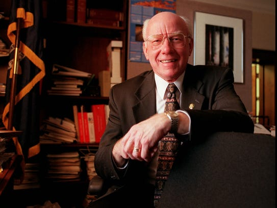 Former U.S. Rep. Vern Ehlers was a a nuclear physicist