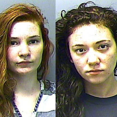Gassville teenagers Kendall Desetta, left, and Anna