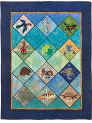 The Great Swamp Quilt was unveiled at the FrOGS 25th anniversary last fall and will be displayed during this year's event.