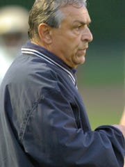 From 2009:  File photo coach Mike Miello when he was
