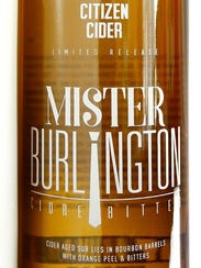 Mister Burlington, barrel-aged cider made with orange