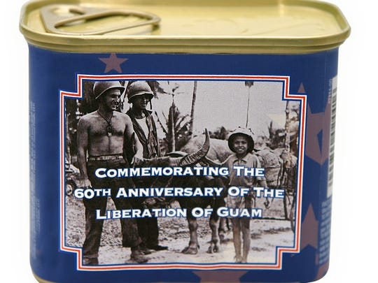 Spam can label in honor of Guam's liberation from Japanese