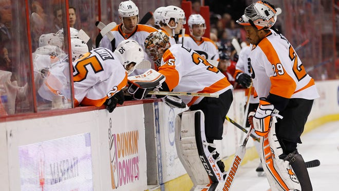 Steve Mason already missed six games with a right knee injury in January. He'll miss another two to three weeks in February, too.