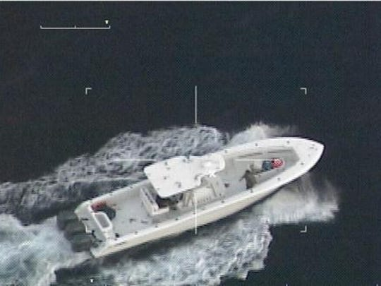"Coast Guard crews detained three men aboard a stolen ""go-fast"" vessel after a pursuit that covered more than 300 miles Friday. The pursuit came to end after nearly 20 hours when the vessel stopped 125 miles east of Cancun, Mexico."