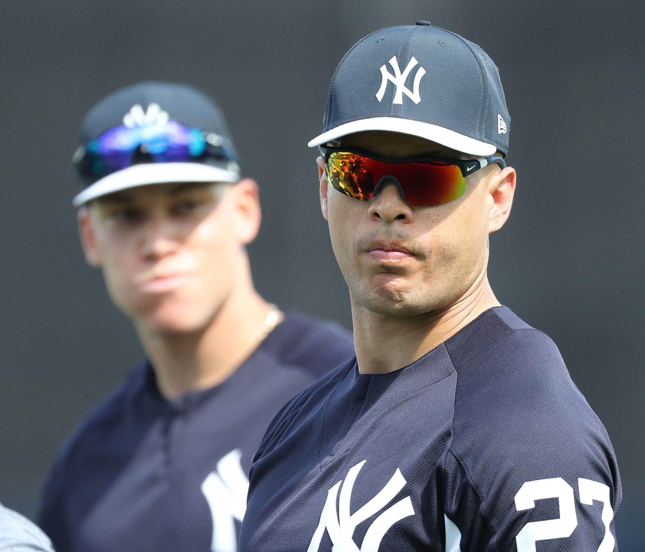 Giancarlo Stanton joined forces with Aaron Judge in the Bronx this season.