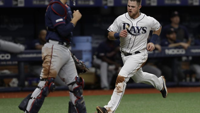 Christian Arroyo, shown with the Rays earlier in his career, was designated for assignment by the Red Sox on Thursday.