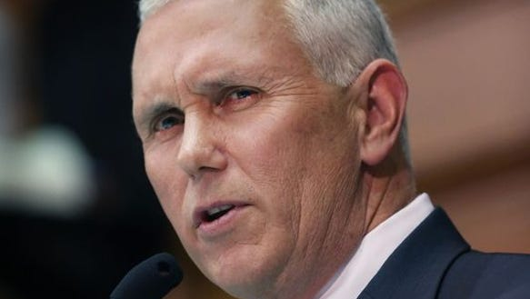 Indiana Gov. Mike Pence said he won't lobby for extra