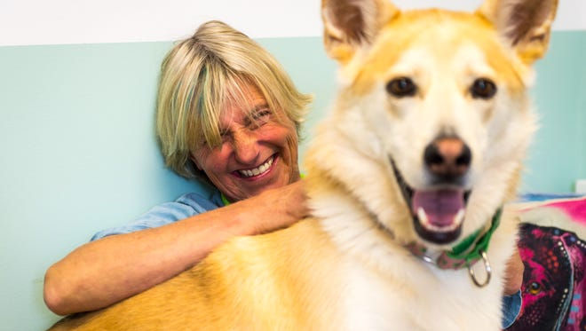 Rose Stivers, owner of All Paws Pet Sitting, at her business in West Ocean City on Friday, May 6.