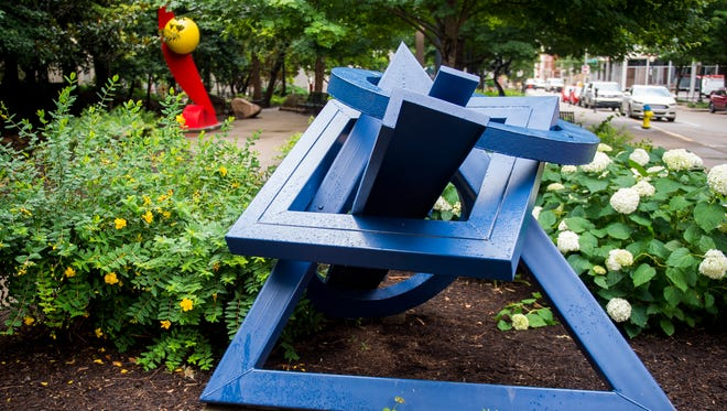 Sculptures in Krutch Park in downtown Knoxville.