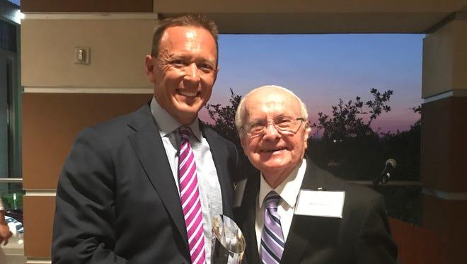 "ACU President Dr. Phil Schubert and Dr. Robert D. ""Bob"" Hunter"