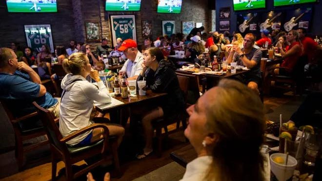 A World Cup watch party was held at Bokamper's Sports Bar and Grill in Naples on Sunday, July 7, 2019.