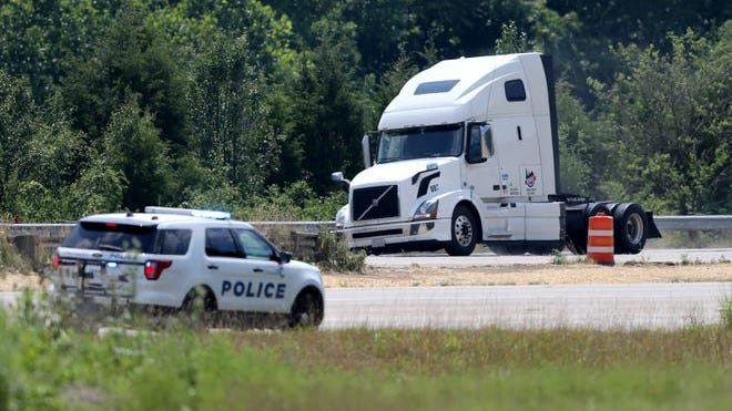 Authorities pursued and then later apprehended the driver of a semi tractor-trailer after a pursuit that lasted about three hours, Saturday, July 18, 2020, along Interstate 275 in Anderson Township near Cincinnati. The driver was arrested just before 4 p.m. and required treatment from medics at the scene on Interstate 275.