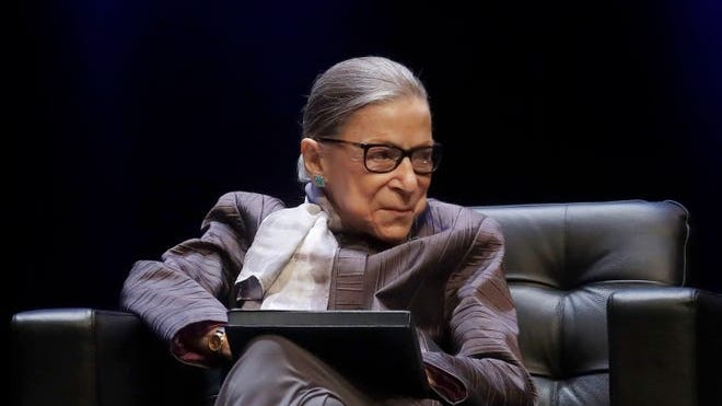 Ruth Bader Ginsburg is pictured here in this October, 2019 file photo.