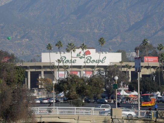 A general view of the 2018 Rose Bowl college football