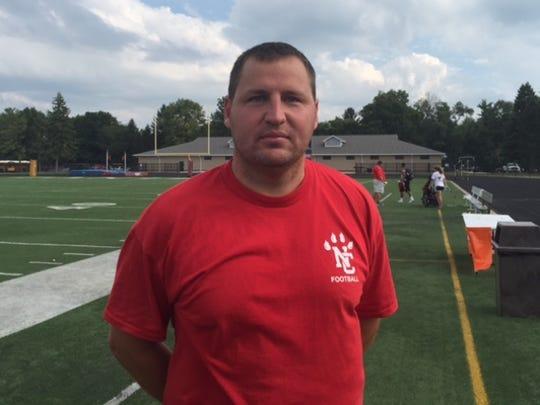 North Central football coach Kevin Kreinhagen