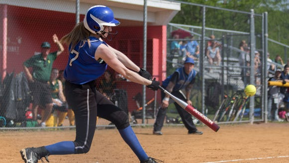 Meagan Woods of Pearl River drives  the ball during