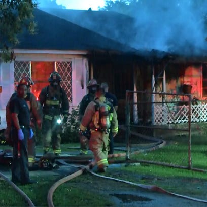 At least 10 kids were injured in a house fire early