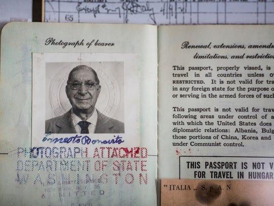 Ernesto Bonavita's record of immigration from Italy