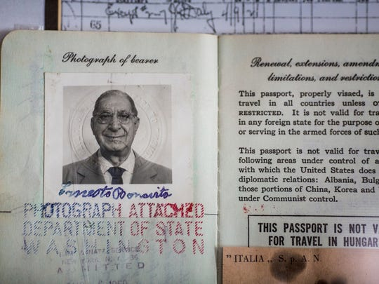 Ernesto Bonavita's record of immigration from Italy to the United States.