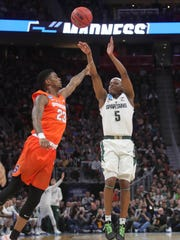 Cassius Winston had a great season shooting the 3, but struggled in MSU's final four games.