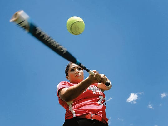 VICTOR CALZADA-EL PASO TIMES Bel Air's Yasmin Melero will be traveling to California to try out for the Mexican junior national softball team.