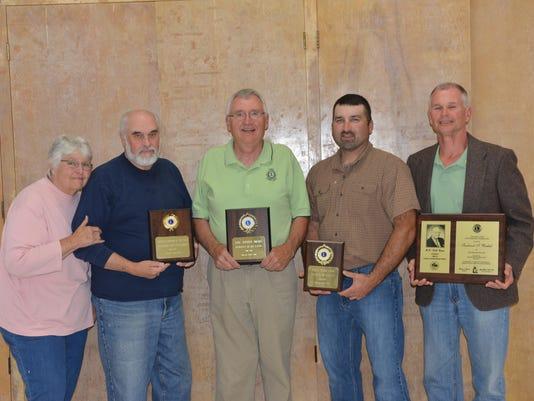awards l-r Maryann & Jim Williamson, Bob Buxton, Travis Mullett, Fred Wacht